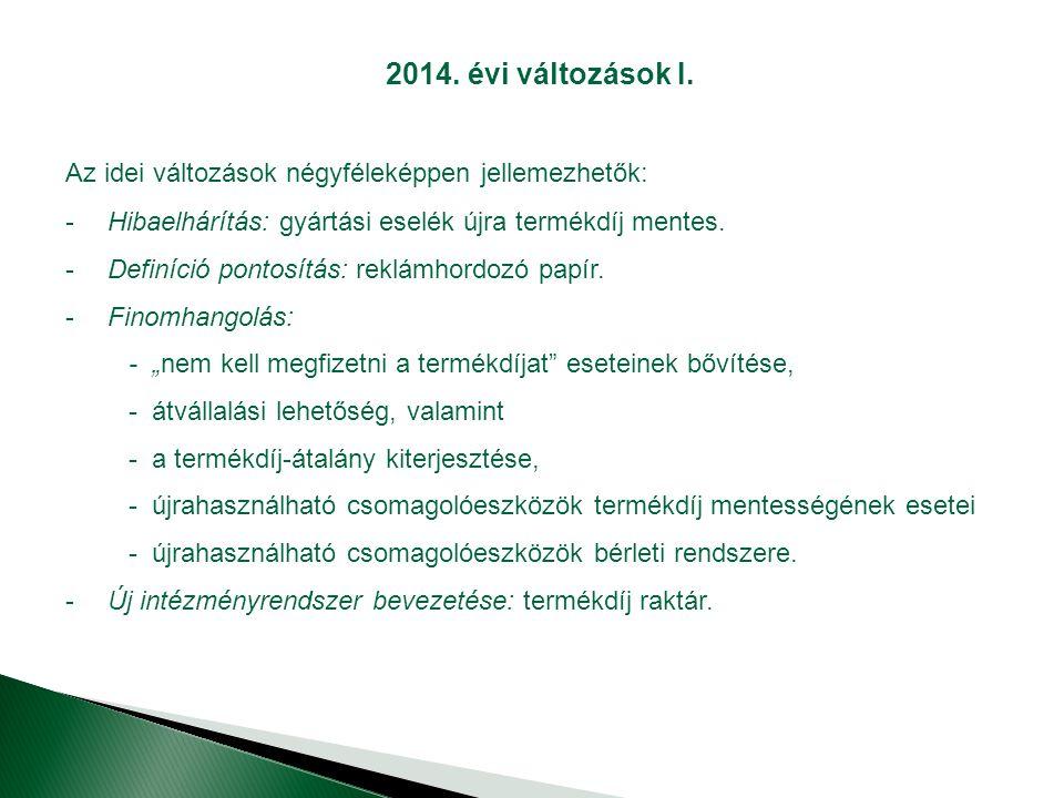 2014.évi változások I.