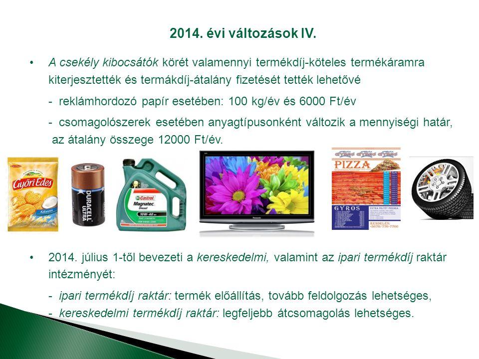 2014.évi változások IV.