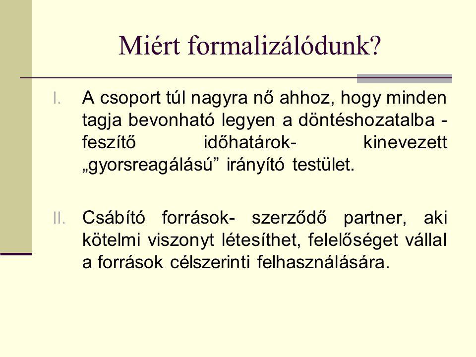 Miért formalizálódunk.I.