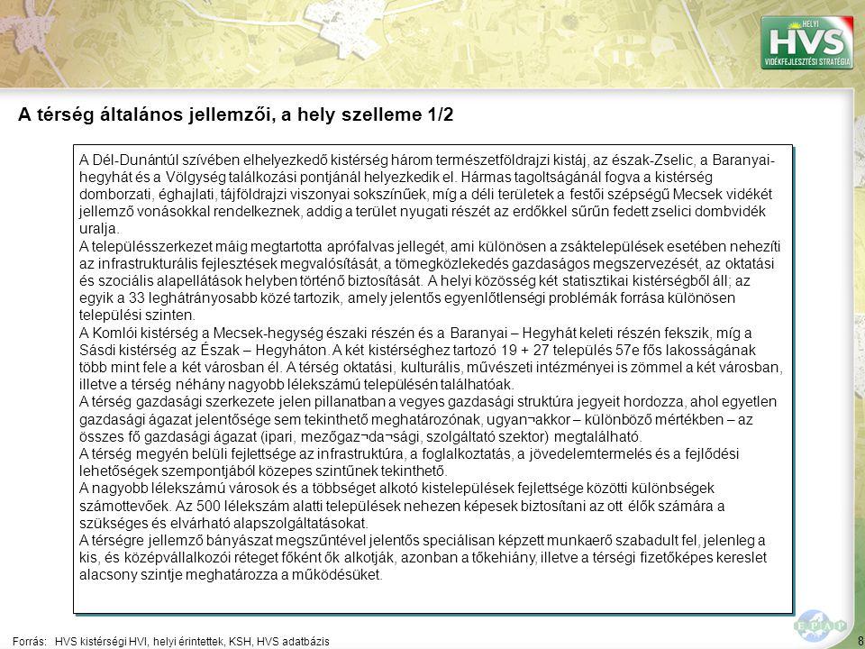 """49 Települések egy mondatos jellemzése 3/23 A települések legfontosabb problémájának és lehetőségének egy mondatos jellemzése támpontot ad a legfontosabb fejlesztések meghatározásához Forrás:HVS kistérségi HVI, helyi érintettek, HVT adatbázis TelepülésLegfontosabb probléma a településen ▪Baranyaszent györgy ▪""""A település legnagyobb problémája a szegénység, és az ezzel kapcsolatos problémák (képzetlenség, munkanélküliség, rossz élet- és lakáskörülmények stb.) ▪Bikal ▪""""A település demográfiai problémákkal küzd: a település lakossága folyamatosan, nagymértékben csökken."""