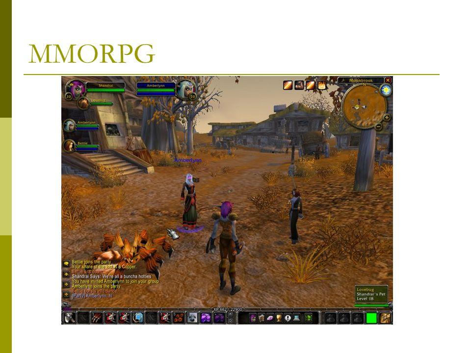  Ragnarok – 22:00-06:00-ig tilos Thaifölön  World of Warcraft – ma 4 millió előfizető  Relatíve magas befolyás a mindennapokra  Az MMORPG-k GDP-je nagyobb mint Bulgáriáé