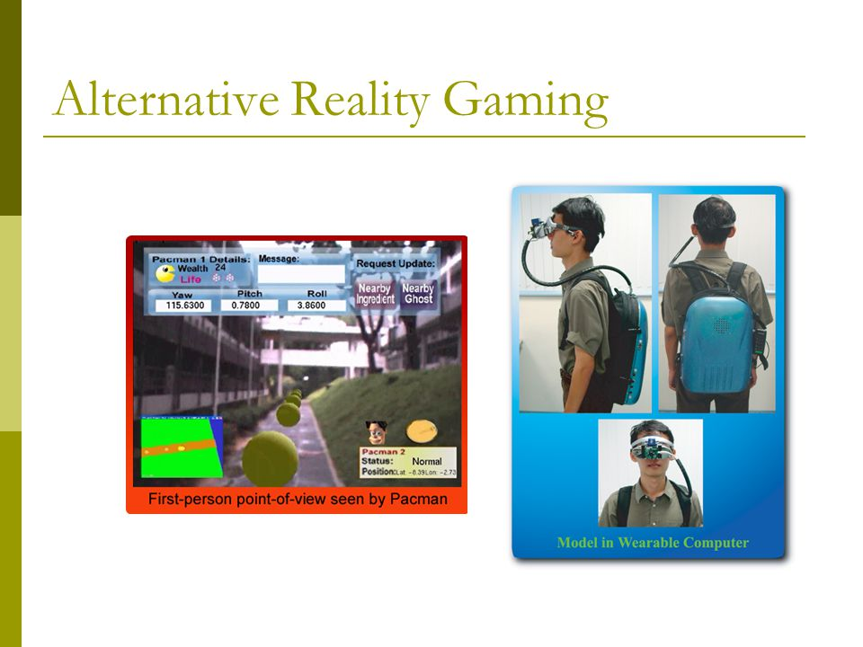 Alternative Reality Gaming