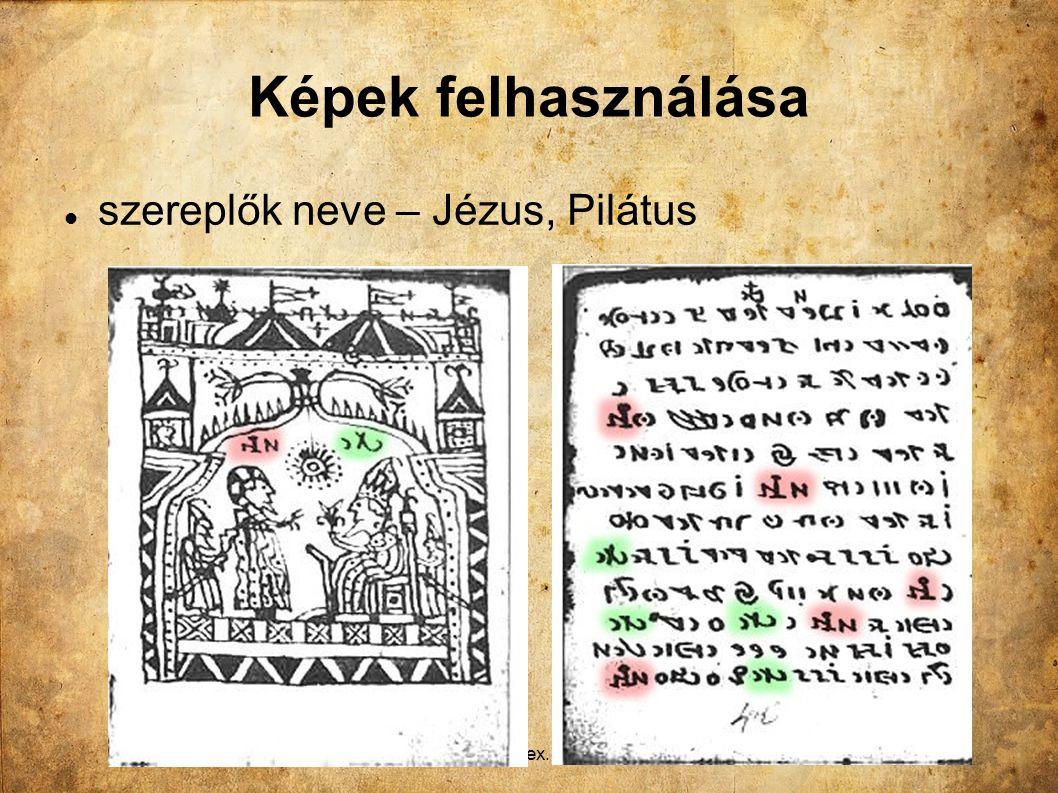 Király L.: A Rohonci-kódex. Sukoró, 2012. dec. 1. Képek felhasználása szereplők neve – Jézus, Pilátus