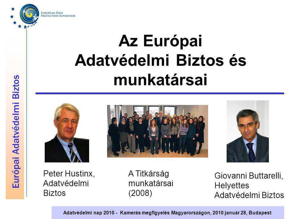 Európai Adatvédelmi Biztos Adatvédelmi nap 2010 - Kamerás megfigyelés Magyarországon, 2010 január 28, Budapest Összefoglaló Az Európai Adatvédelmi Biztos gyakorlati útmutatást ad de a döntéseket helyben kell hozni: az EUs intézményeknek maguknak kell biztosítaniuk a megfelelést Az adatkezelők, adatvédelmi tisztviselők és az érintettek együttműködése szükséges Az Adatvédelmi Biztos bevonása csak atipikus, és különleges kockázatokkal járó rendszerek esetében szükséges