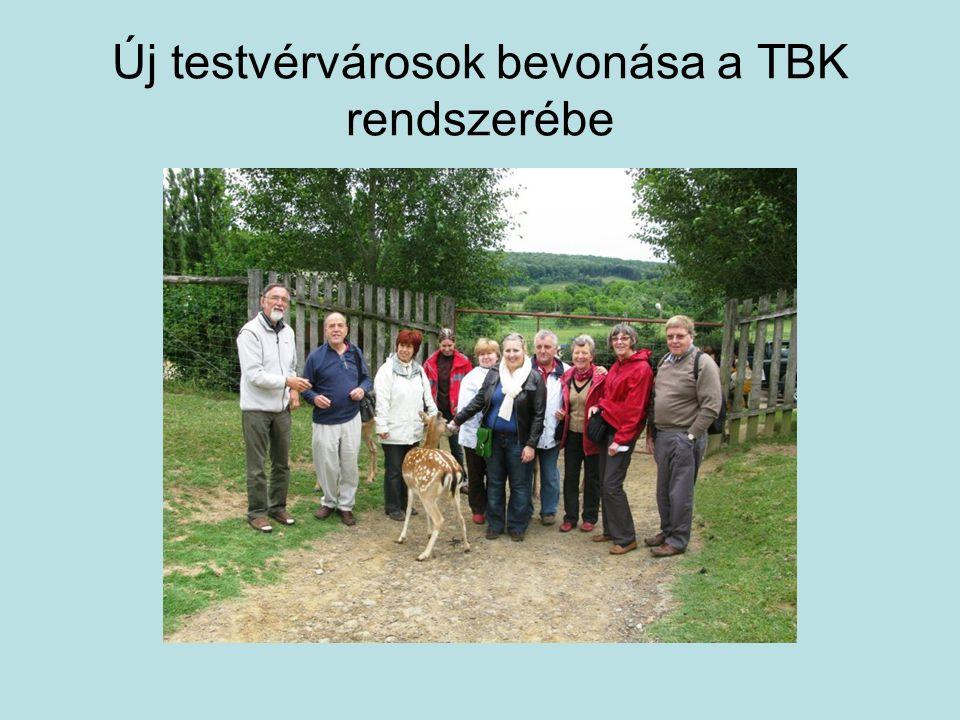 Új testvérvárosok bevonása a TBK rendszerébe