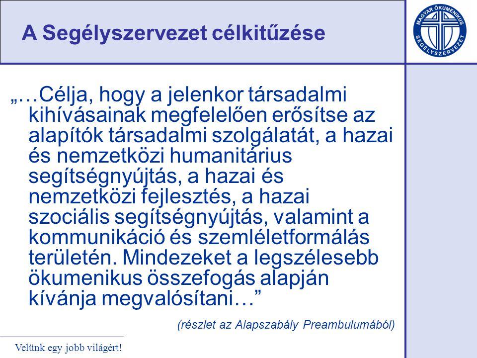 Velünk egy jobb világért! Magyarországi szociális-fejlesztő tevékenység