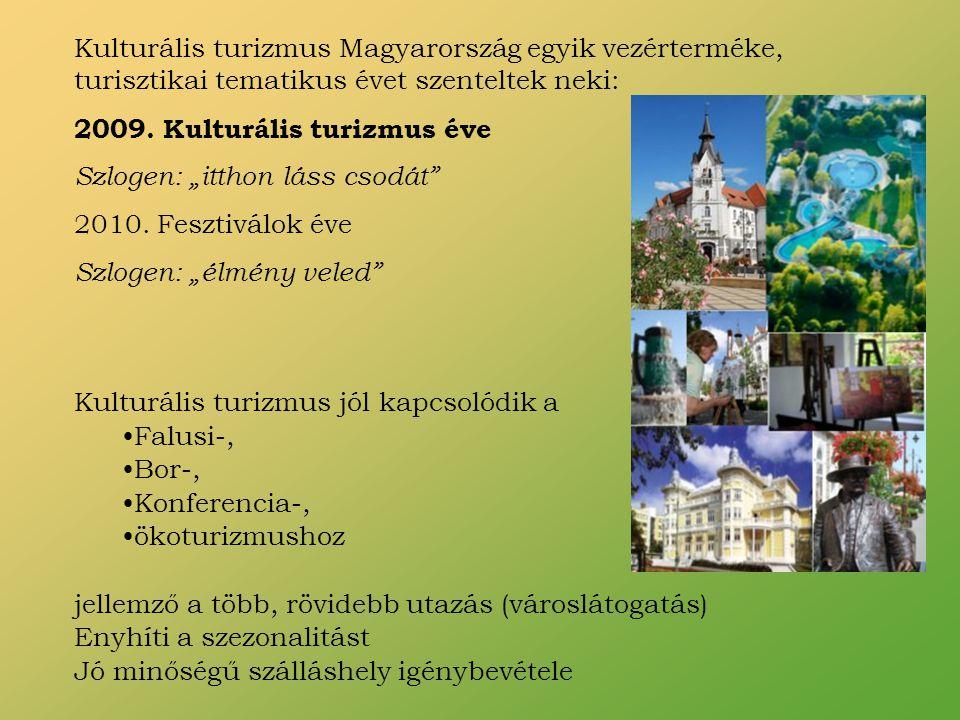Kulturális turizmus Magyarország egyik vezérterméke, turisztikai tematikus évet szenteltek neki: 2009.