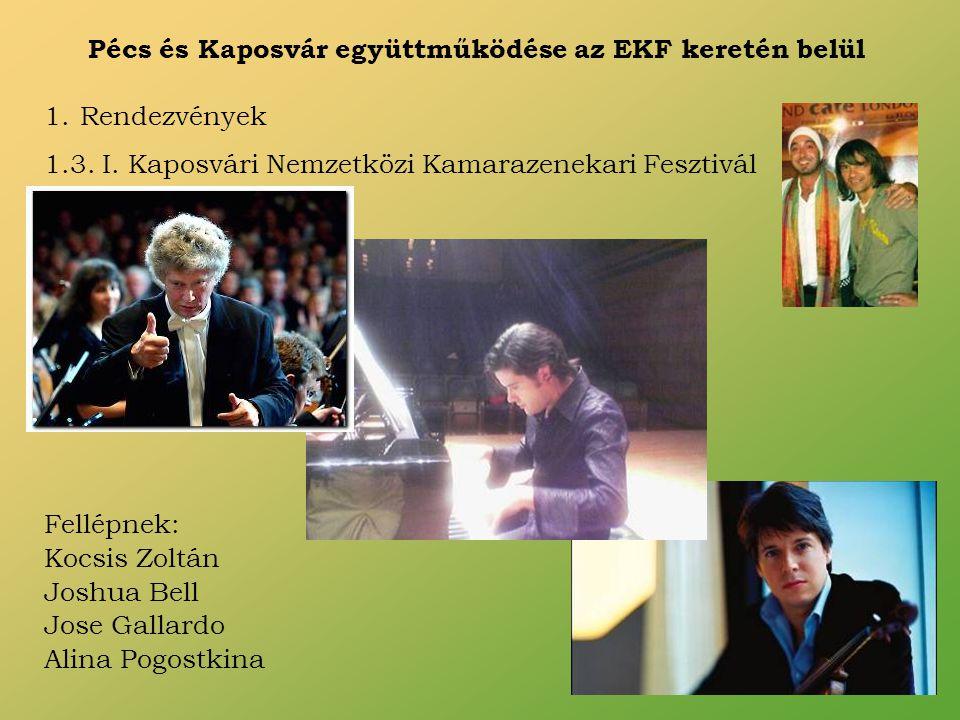 Pécs és Kaposvár együttműködése az EKF keretén belül 1.Rendezvények 1.3.