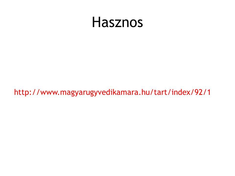 Hasznos http://www.magyarugyvedikamara.hu/tart/index/92/1