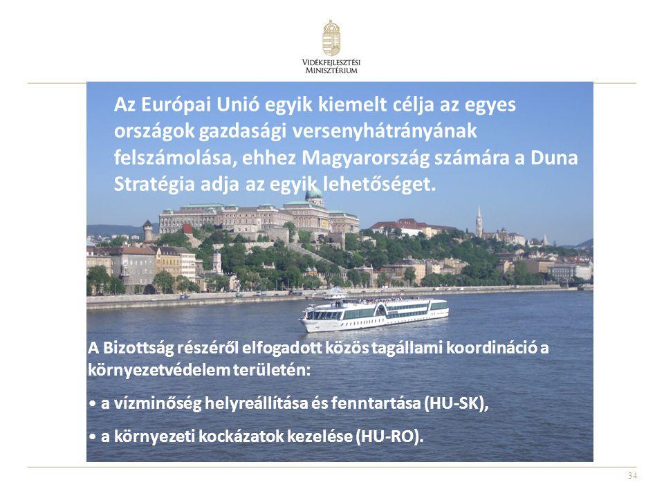 34 A Bizottság részéről elfogadott közös tagállami koordináció a környezetvédelem területén: a vízminőség helyreállítása és fenntartása (HU-SK), a környezeti kockázatok kezelése (HU-RO).