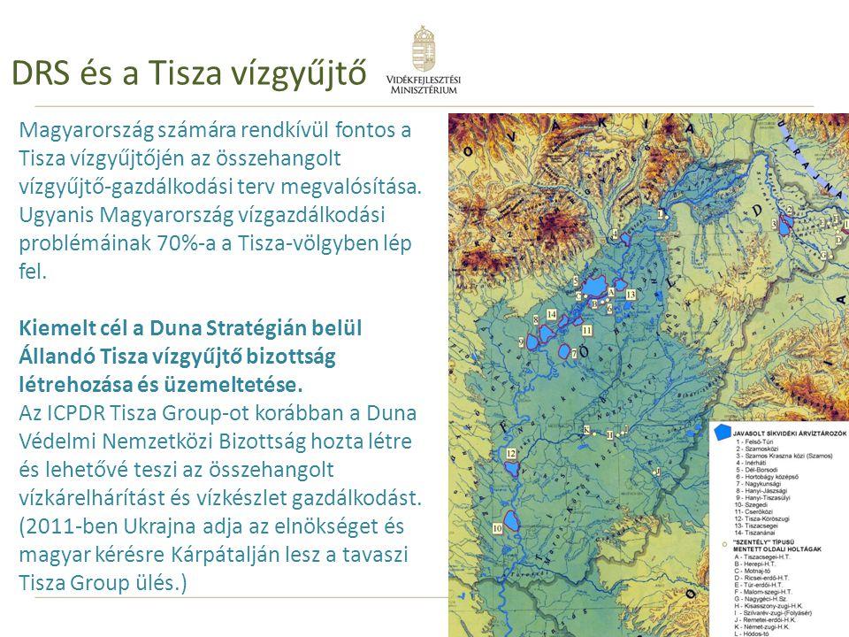 35 DRS és a Tisza vízgyűjtő Magyarország számára rendkívül fontos a Tisza vízgyűjtőjén az összehangolt vízgyűjtő-gazdálkodási terv megvalósítása. Ugya
