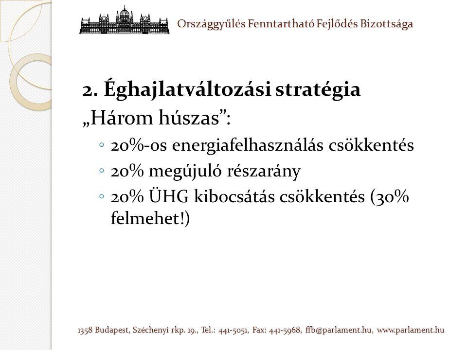 Országgyűlés Fenntartható Fejlődés Bizottsága 1358 Budapest, Széchenyi rkp.