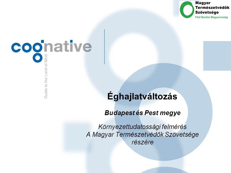 Éghajlatváltozás Budapest és Pest megye Környezettudatossági felmérés A Magyar Természetvédők Szövetsége részére