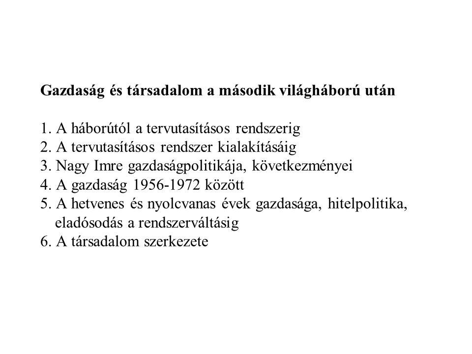 3.Nagy Imre gazdaságpolitikája, következményei (1) - 1953.