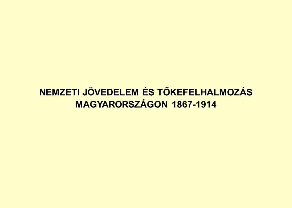 NEMZETI JÖVEDELEM ÉS TŐKEFELHALMOZÁS MAGYARORSZÁGON 1867-1914