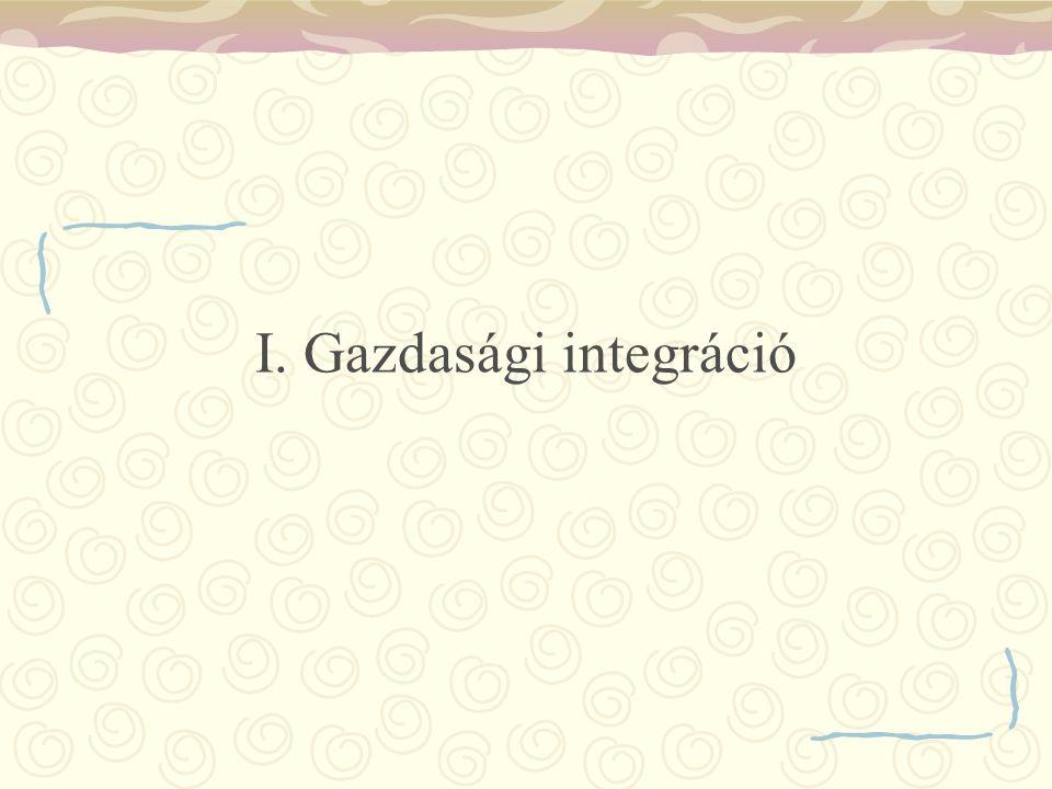I. Gazdasági integráció