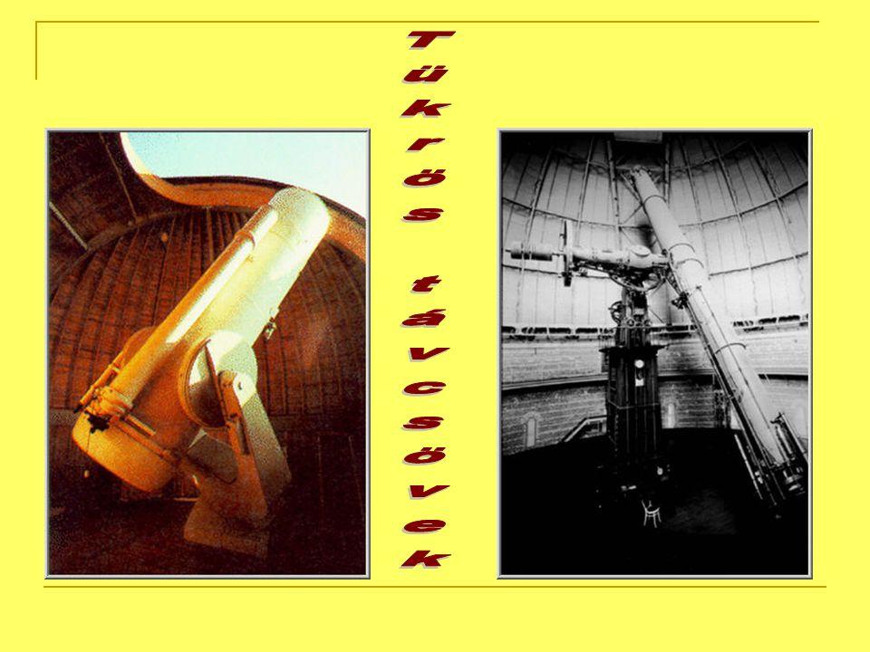 Newton-féle tükrös távcső 1672-ben Isaac Newton bemutatta az akadémián saját tervezésű távcsövét.