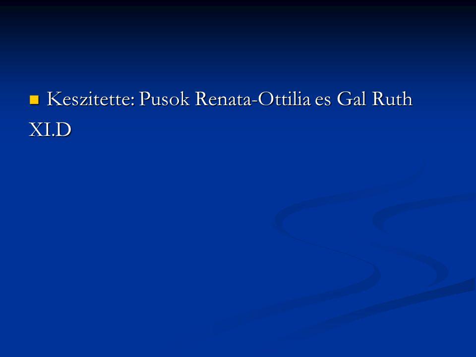 Keszitette: Pusok Renata-Ottilia es Gal Ruth Keszitette: Pusok Renata-Ottilia es Gal RuthXI.D