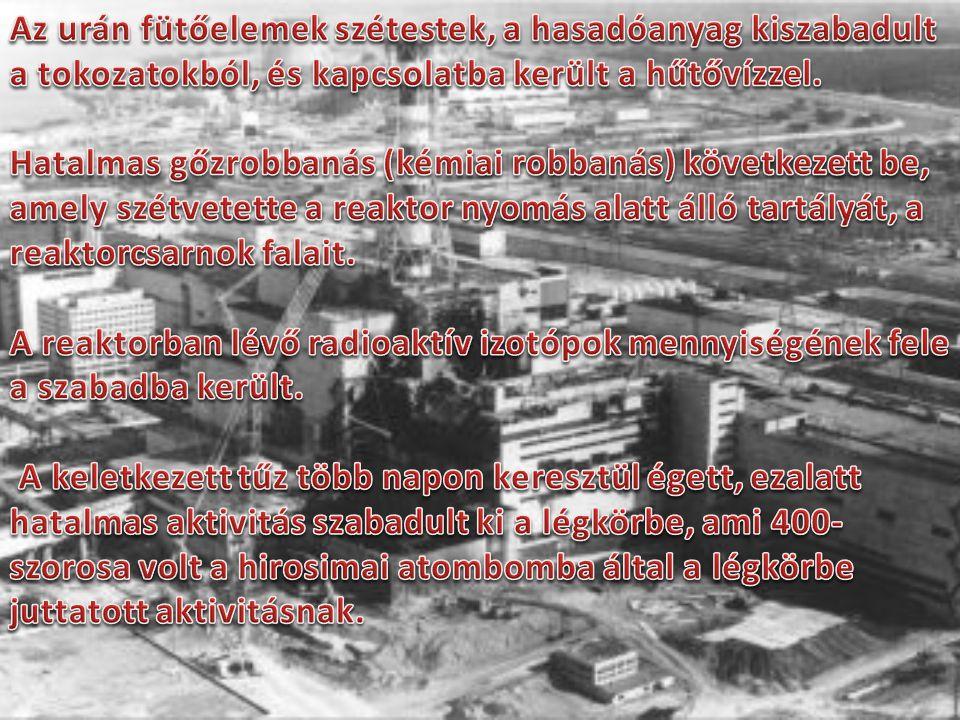 1986. április 26-án hajnalban az ukrajnai Csernobil atomerőművének negyedik blokkjában bekövetkezett az eddigi legnagyobb és legsúlyosabb reaktorbales