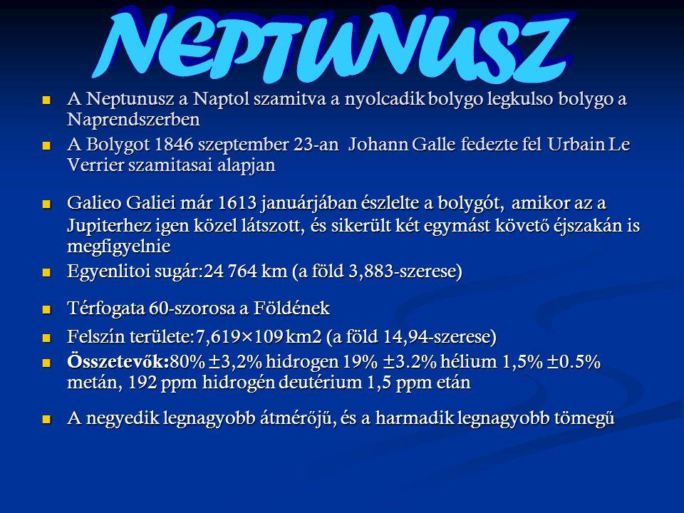 A Neptunusz a Naptol szamitva a nyolcadik bolygo legkulso bolygo a Naprendszerben A Neptunusz a Naptol szamitva a nyolcadik bolygo legkulso bolygo a N