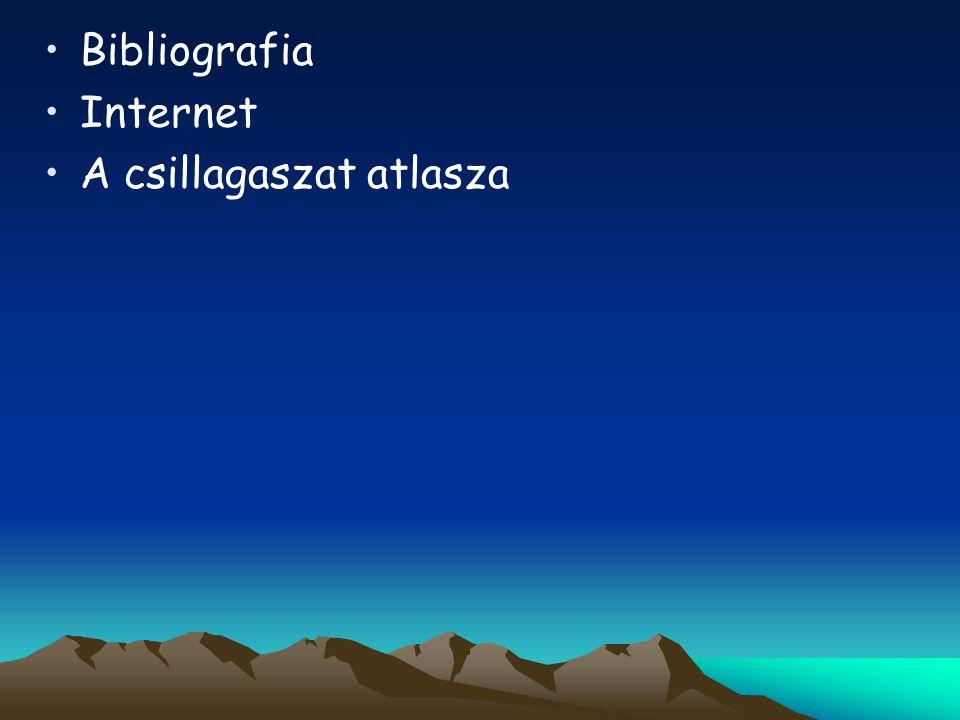 Bibliografia Internet A csillagaszat atlasza