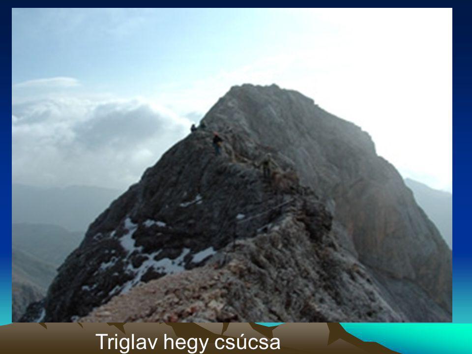 Triglav hegy csúcsa