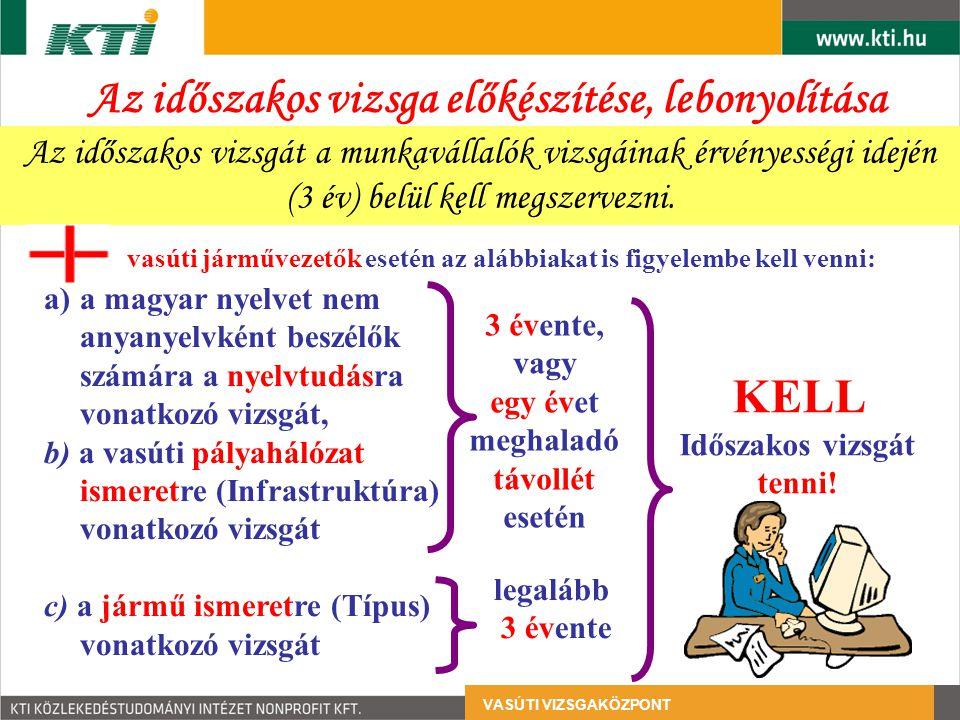 VASÚTI VIZSGAKÖZPONT vasúti járművezetők esetén az alábbiakat is figyelembe kell venni: a)a magyar nyelvet nem anyanyelvként beszélők számára a nyelvt
