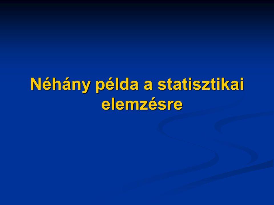 Néhány példa a statisztikai elemzésre