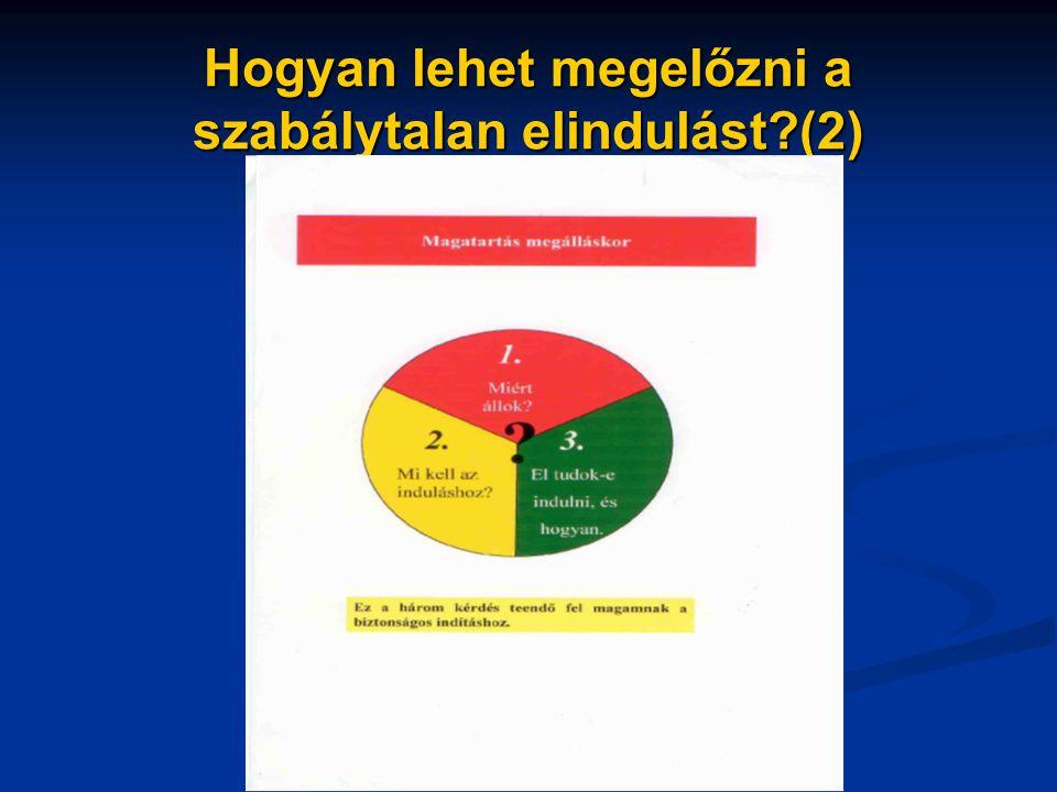 Hogyan lehet megelőzni a szabálytalan elindulást?(2)
