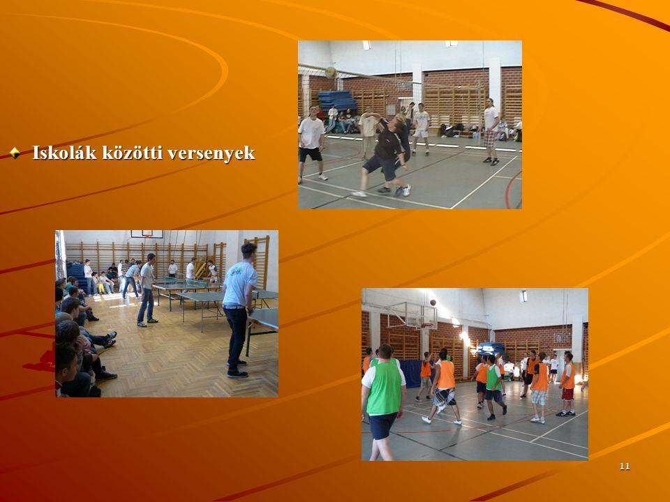 11 Iskolák közötti versenyek