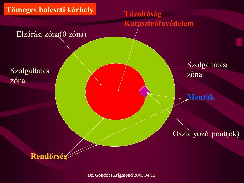 Dr. Göndöcs Zsigmond 2005.04.12. Elzárási zóna(0 zóna) Osztályozó pont(ok) Szolgáltatási zóna Szolgáltatási zóna Tűzoltóság Katasztrófavédelem Rendőrs