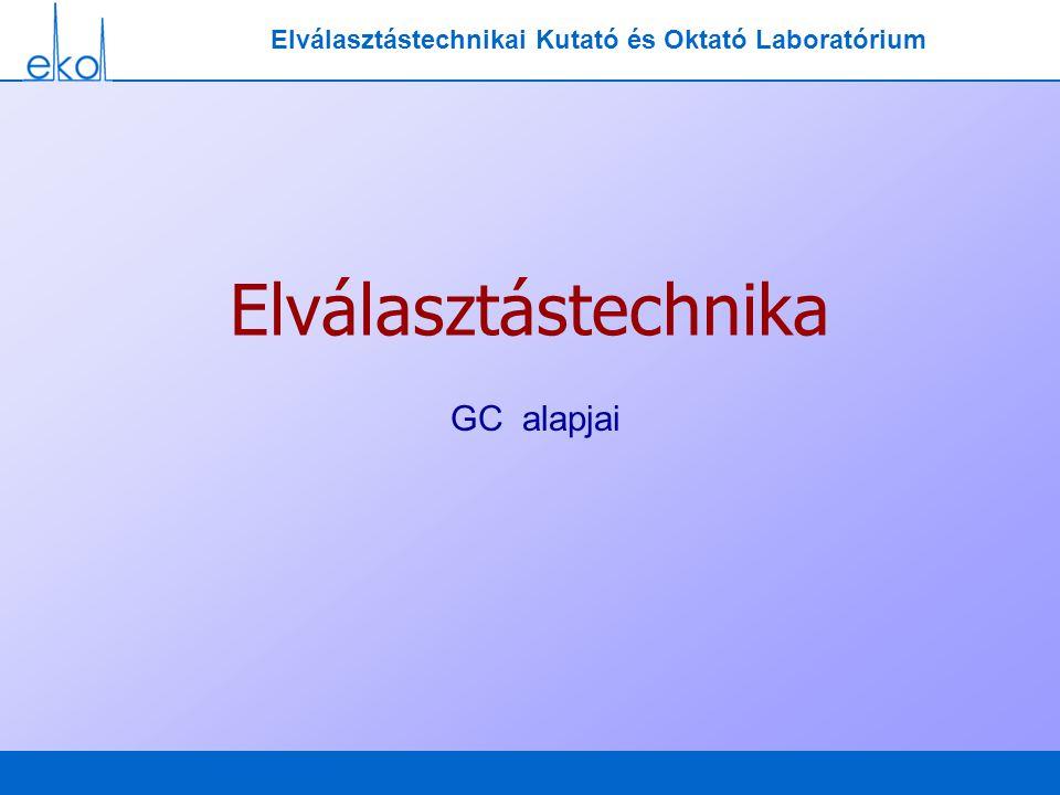 Elválasztástechnikai Kutató és Oktató Laboratórium Elválasztástechnika GC alapjai