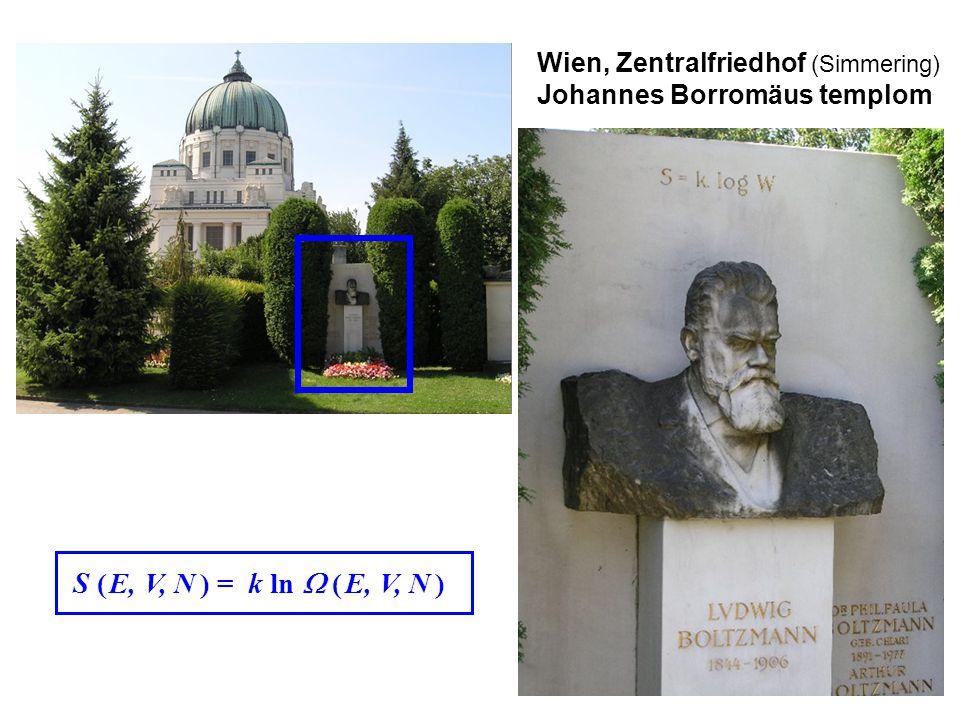 Boltzmann S ( E, V, N ) = k ln  ( E, V, N ) Wien, Zentralfriedhof (Simmering) Johannes Borromäus templom