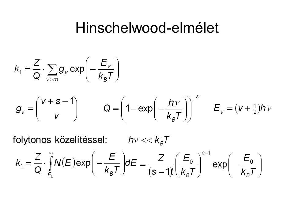 Hinschelwood-elmélet folytonos közelítéssel: