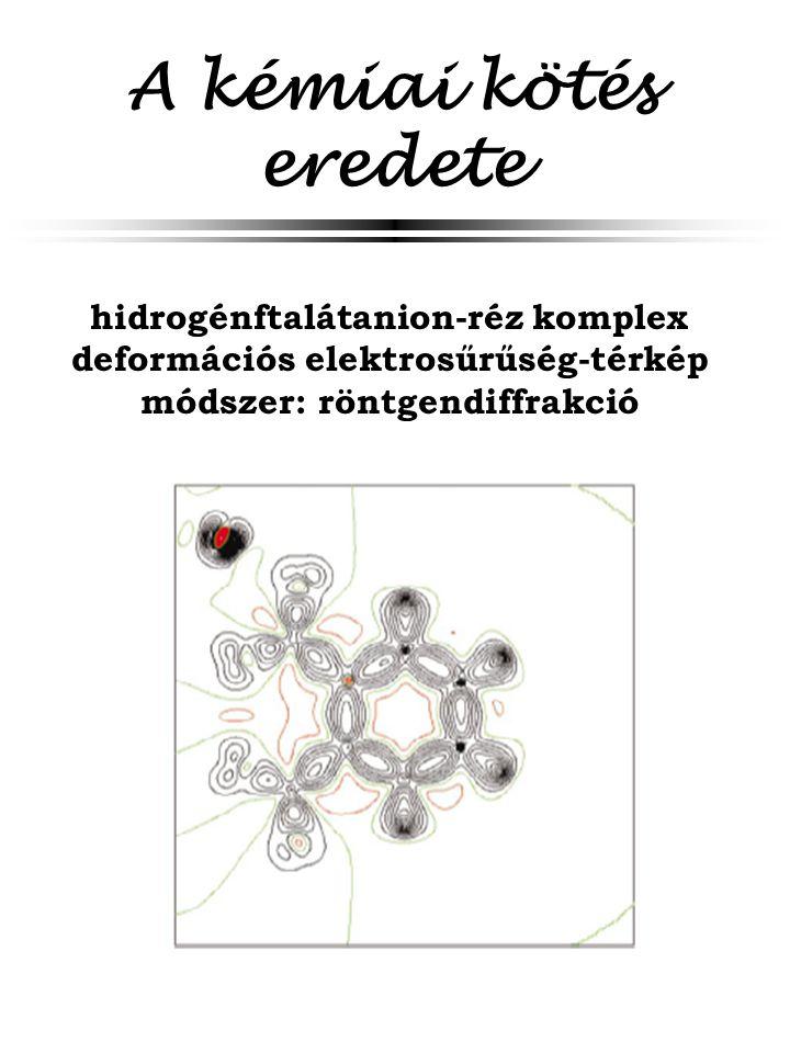 A kémiai kötés eredete hidrogénftalátanion-réz komplex deformációs elektrosűrűség-térkép módszer: röntgendiffrakció