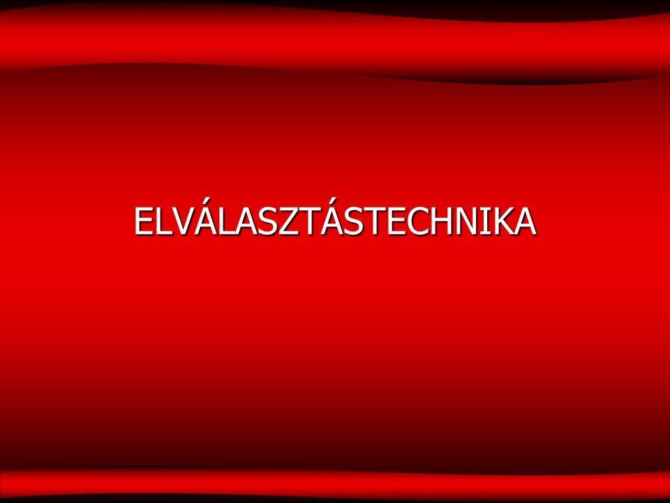 ELVÁLASZTÁSTECHNIKA