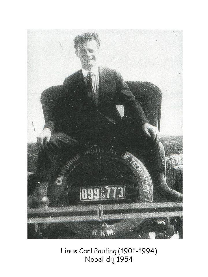 Linus Carl Pauling (1901-1994) Nobel dij 1954