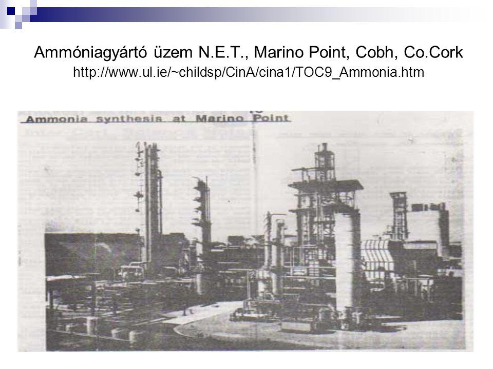 Ammóniagyártó üzem N.E.T., Marino Point, Cobh, Co.Cork http://www.ul.ie/~childsp/CinA/cina1/TOC9_Ammonia.htm