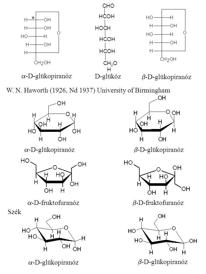  -D-glükopiranóz  -D-glükopiranóz CHOHO HOCH CH2OHH2OH HCHCOHOH HCHCOHOH HCHCOHOH D-glükóz W.