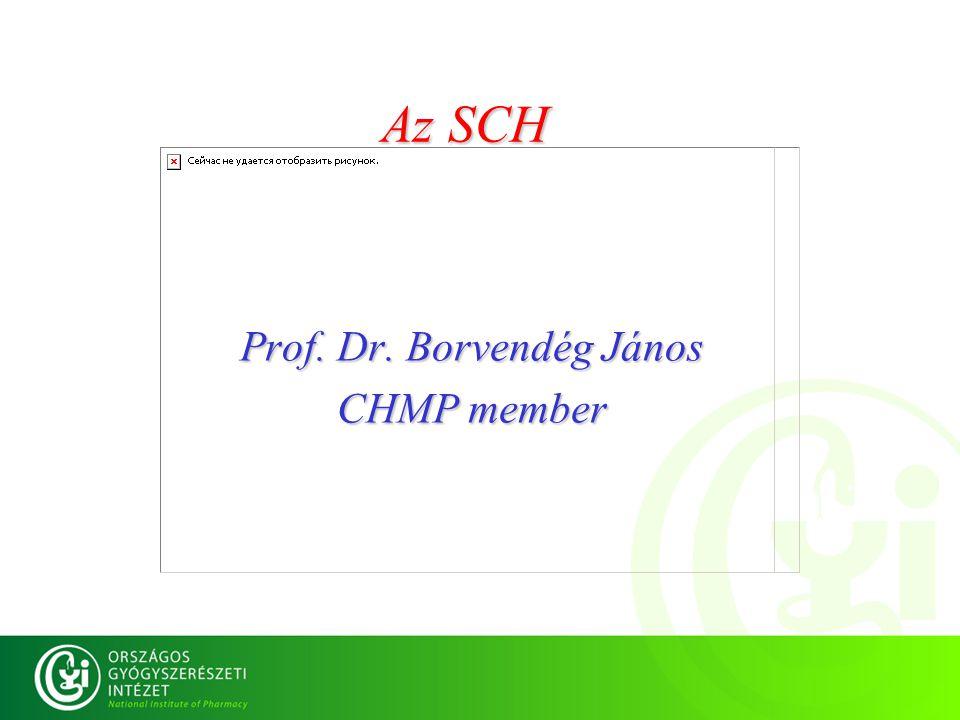 Az SCH Prof. Dr. Borvendég János CHMP member