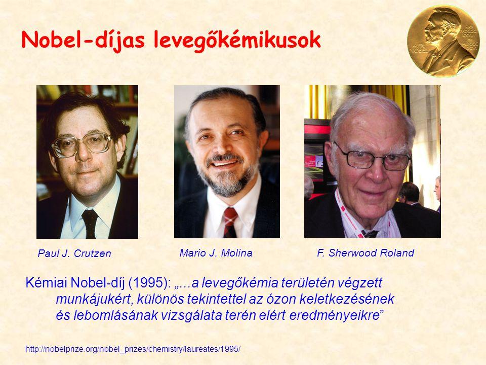 Nobel-díjas levegőkémikusok Paul J.Crutzen Mario J.