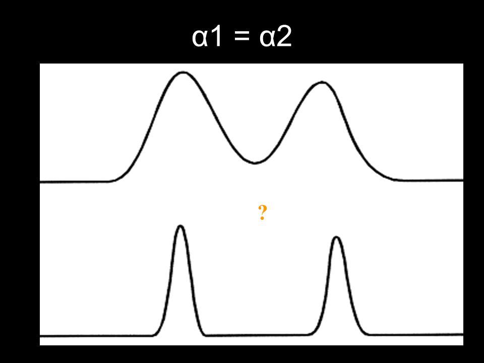 α1 = α2 ?