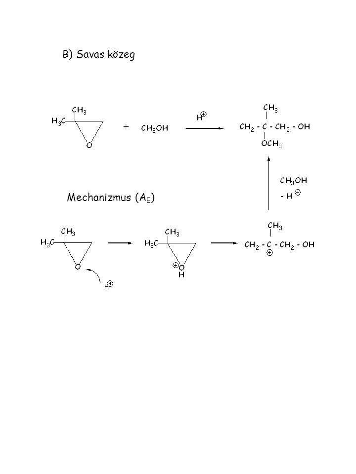 B) Savas közeg Mechanizmus (A E ) +