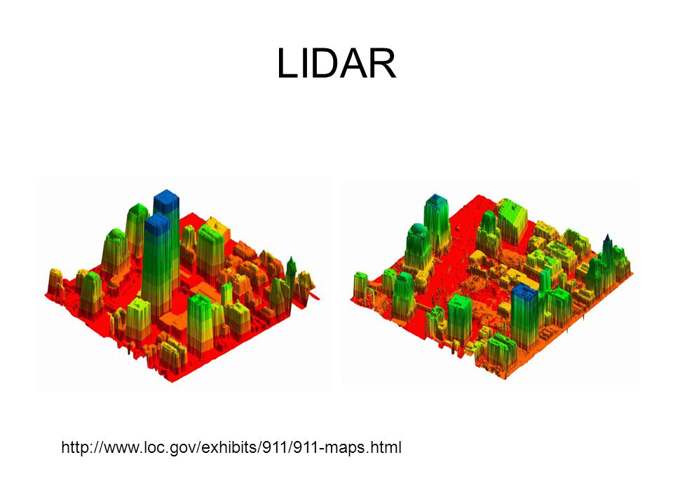 LIDAR http://www.loc.gov/exhibits/911/911-maps.html