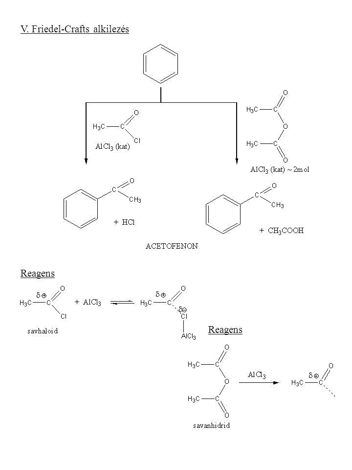 V. Friedel-Crafts alkilezés Reagens