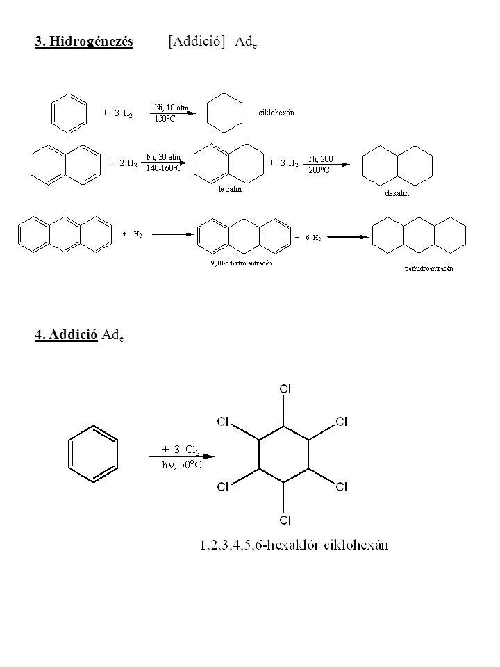 3. Hidrogénezés[Addició]Ad e 4. AddicióAd e