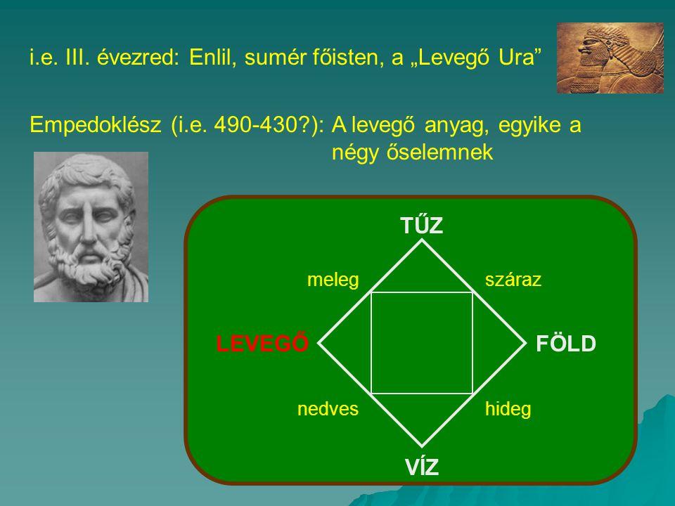 """i.e.III. évezred: Enlil, sumér főisten, a """"Levegő Ura Empedoklész (i.e."""