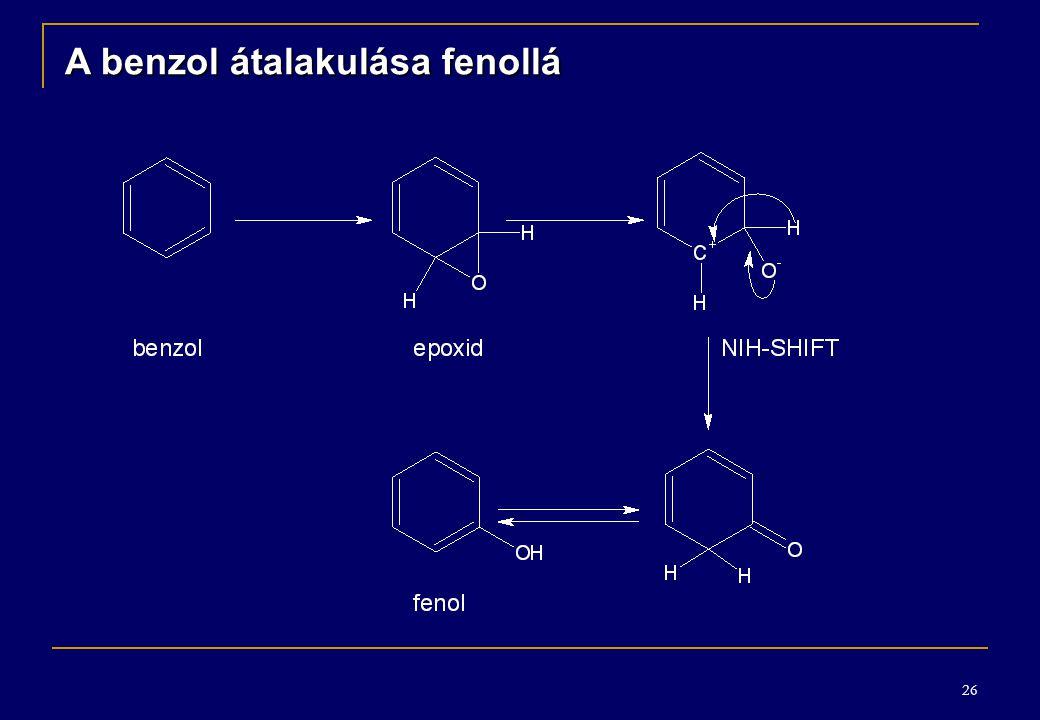 26 A benzol átalakulása fenollá
