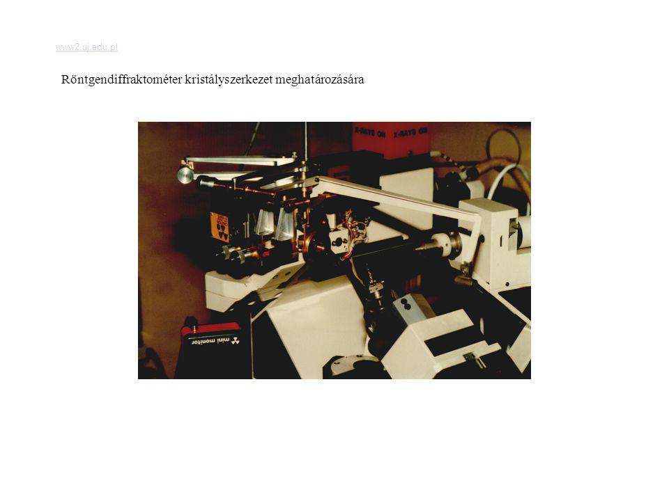 www2.uj.edu.pl Röntgendiffraktométer kristályszerkezet meghatározására