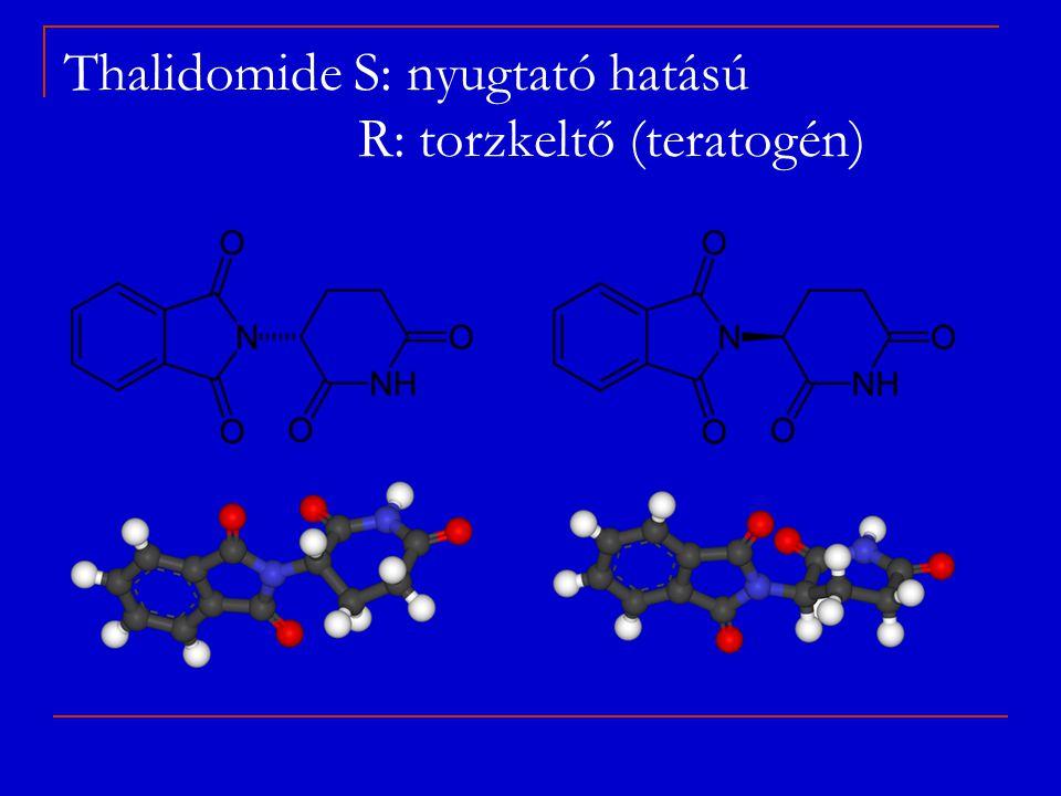 Thalidomide S: nyugtató hatású R: torzkeltő (teratogén)